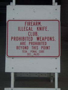 McAllen Police Department says Prohibited items are Prohibited